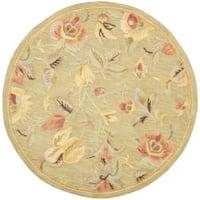 Safavieh Handmade Blossom Green Wool Rug - 6' x 6' Round