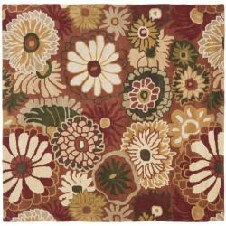 Safavieh Handmade Jardine Summer Rust Wool Rug (6' Square)
