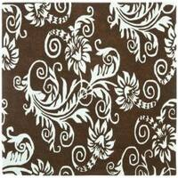 Safavieh Handmade New Zealand Wool Paris Brown/ Blue Rug - 6' x 6' Square