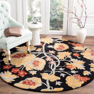 Safavieh Handmade Blossom Rust Wool Area Rug (6' Round)