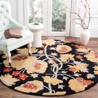 Safavieh Handmade Blossom Rust Wool Area Rug - 6' x 6' Round
