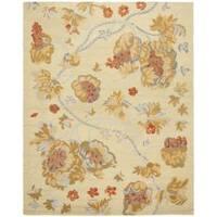 Safavieh Handmade Blossom Beige Pure Wool Rug - 5' x 8'