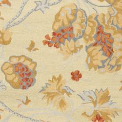 Safavieh Handmade Blossom Beige Wool Rug with Cotton Canvas Backing (8' x 10') - Thumbnail 2