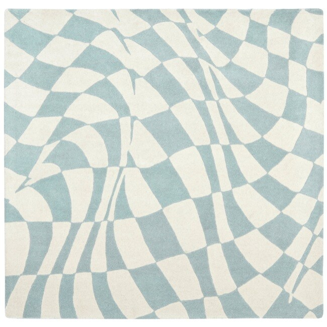 Safavieh Handmade Soho Modern Abstract Blue Wool Rug (6' x 6' Square)