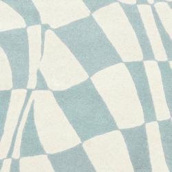 Safavieh Handmade Soho Modern Abstract Blue Wool Rug (6' x 6' Square) - Thumbnail 2