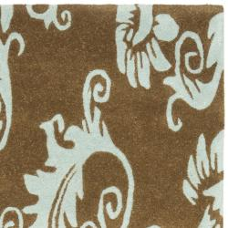 Safavieh Handmade New Zealand Wool Paris Light Brown Rug (2'6 x 8') - Thumbnail 1