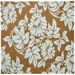 Safavieh Handmade New Zealand Wool Bliss Light Brown Rug (6' Square)