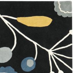 Safavieh Handmade New Zealand Wool Bliss Black Rug (6' Square) - Thumbnail 1