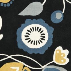 Safavieh Handmade New Zealand Wool Bliss Black Rug (6' Square) - Thumbnail 2