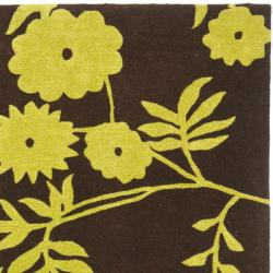 Safavieh Handmade New Zealand Wool Spring Brown/ Green Rug (6' Square) - Thumbnail 1