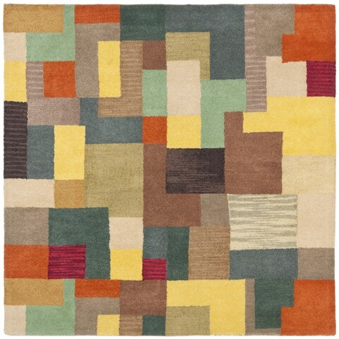 Safavieh Handmade Soho Modern Abstract Multicolored Wool Rug - Multi - 6' x 6' Square