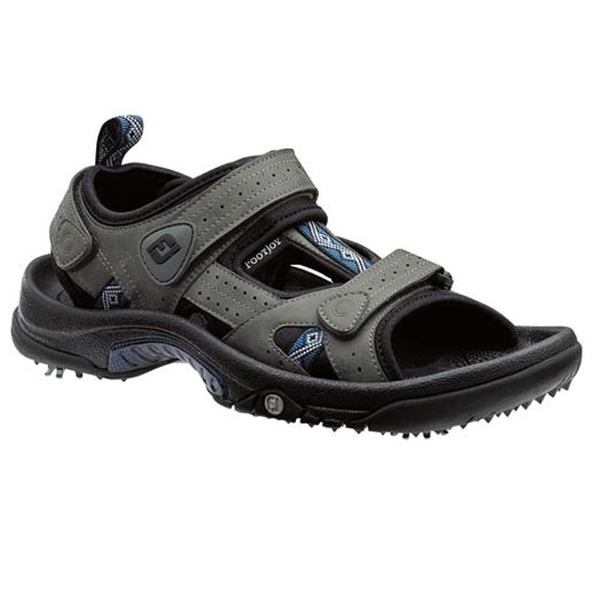 FootJoy Junior Charcoal/ Navy Golf Sandals - Thumbnail 0