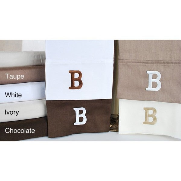 Egyptian Cotton 300 Thread Count Solid Block 'B' Monogram Sheet Set