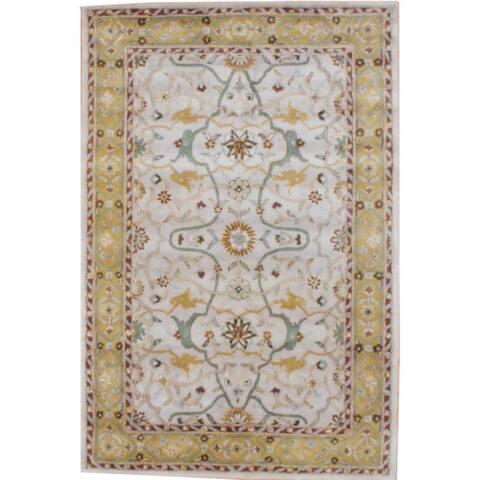 Handmade Mahal Wool Rug (India) - 2' x 3'