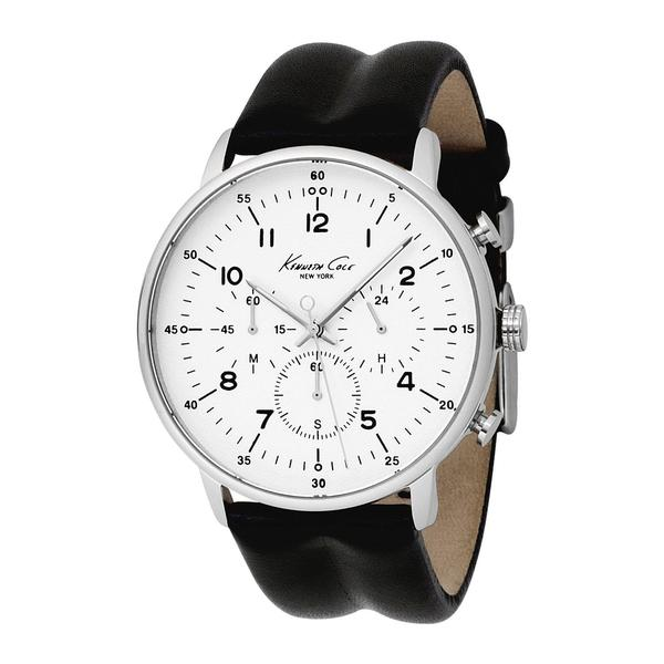 8a710c4617d Shop Kenneth Cole Men s  New York  Leather Strap Chronograph Watch - Free  Shipping Today - Overstock - 6271572