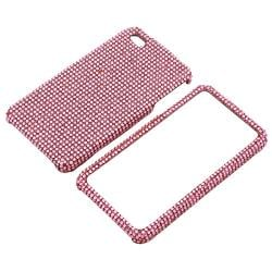 Light Pink Bling Case/ Anti-glare Screen Protector for Apple iPhone 4 - Thumbnail 1