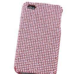 Light Pink Bling Case/ Anti-glare Screen Protector for Apple iPhone 4 - Thumbnail 2