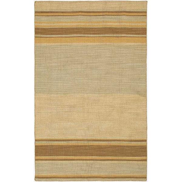 Flat Weave Wool Rug (5' x 8')