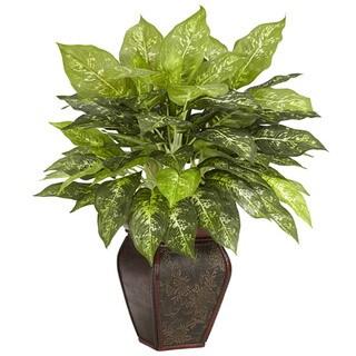 Dieffenbachia with Decorative Vase Polyester Plant