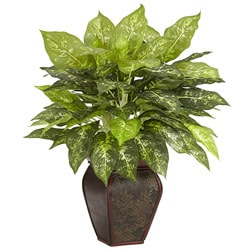 Dieffenbachia with Decorative Vase Polyester Plant