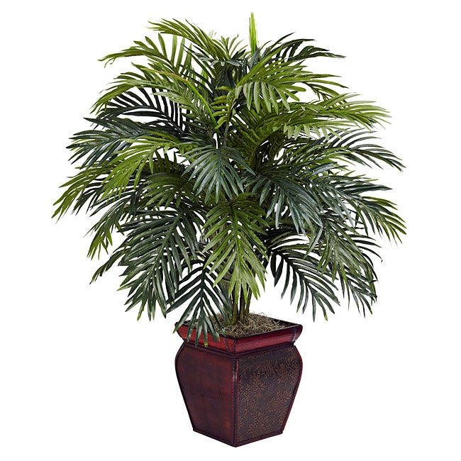 Areca with Decorative Planter Polyester Plant