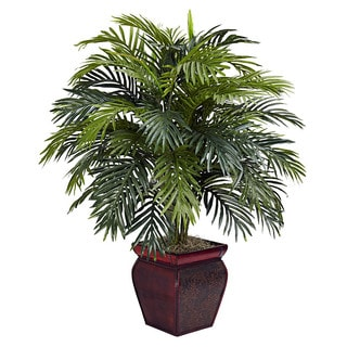 Nearly Natural Areca Polyester Plant with Decorative Planter