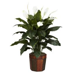 Spathyfillum with Vase Silk Plant - Thumbnail 0