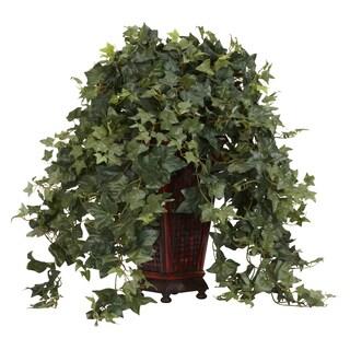 Vining Puff Ivy with Decorative Vase Silk Plant
