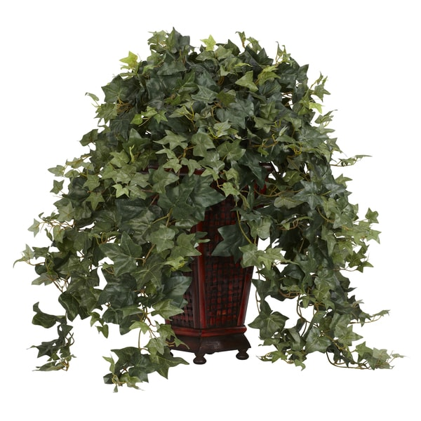 Vining Puff Ivy with Decorative Vase Silk Plant