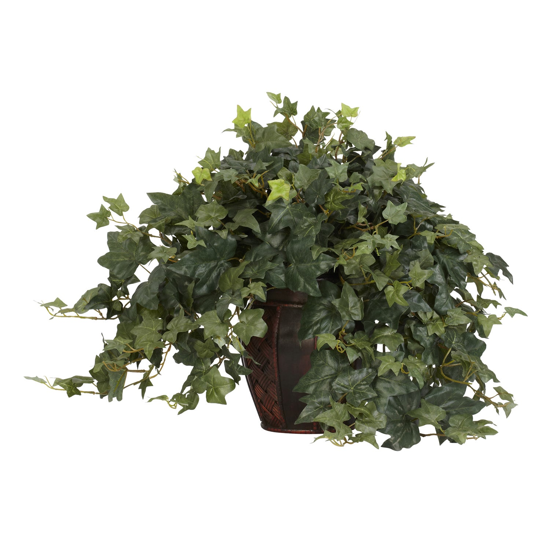Puff Ivy with Decorative Vase Silk Plant