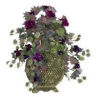 Morning Glory with Decorative Vase Silk Plant