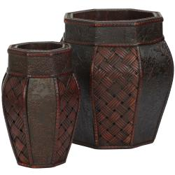 Design and Weave Panel Decorative Planter (Set of 2)