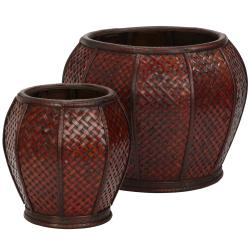 Rounded Weave Decorative Planter (Set of 2)