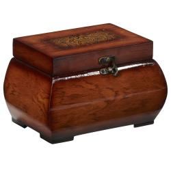 Decorative Lacquered Wood Chests (Set of 2)