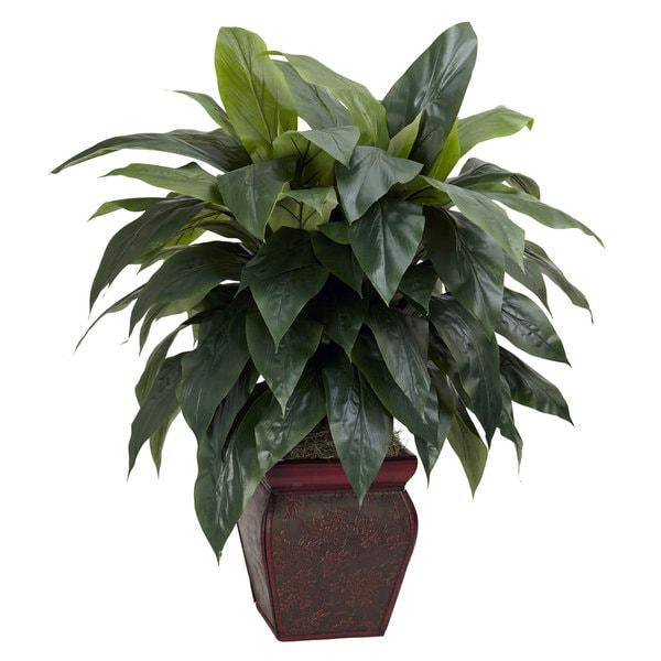 Cordyline Silk Plant with Decorative Vase