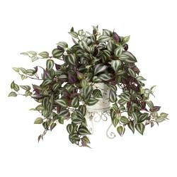 Wandering Jew Silk Plant with Metal Planter