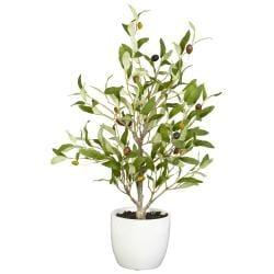 Olive Silk Tree with Vase (Set of 2)