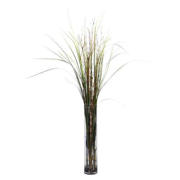 Grass and Bamboo Cylinder Silk Plant