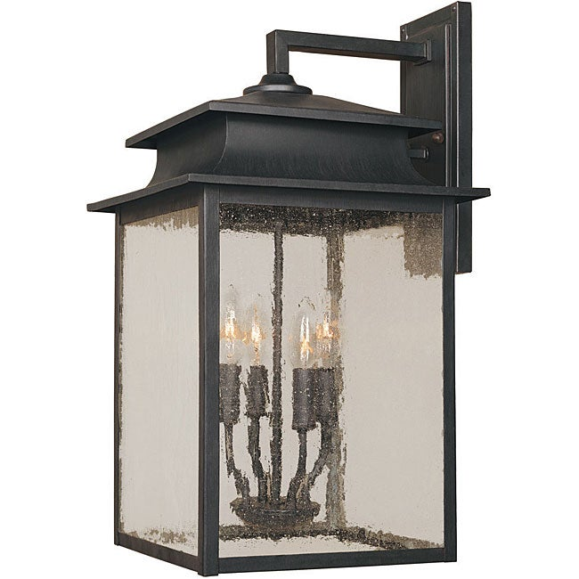World Imports Sutton Collection 4 Light Outdoor Wall Sconce Free Shipping Today Overstock