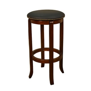 Lewisville 24-inch Walnut Swivel Counter Stool