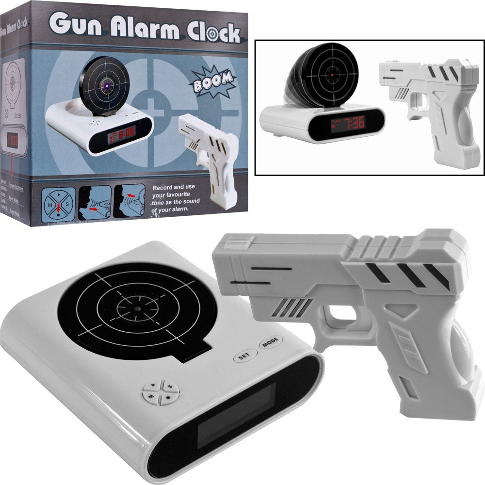 Gun and Target Recordable Alarm Clock (Set of 2) - Thumbnail 0
