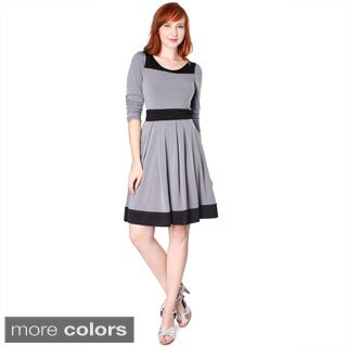 Evanese Women's Two-tone Long-sleeve Dress (More options available)