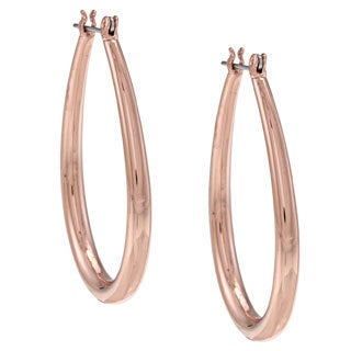 NEXTE Jewelry Rose Goldtone Tapered Teardrop Hoop Earrings
