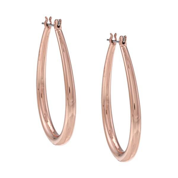 NEXTE Jewelry Rose Goldtone Tapered Teardrop Hoop Earrings