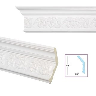 Scrolling Foliage 6-inch Crown Molding (8 pieces)
