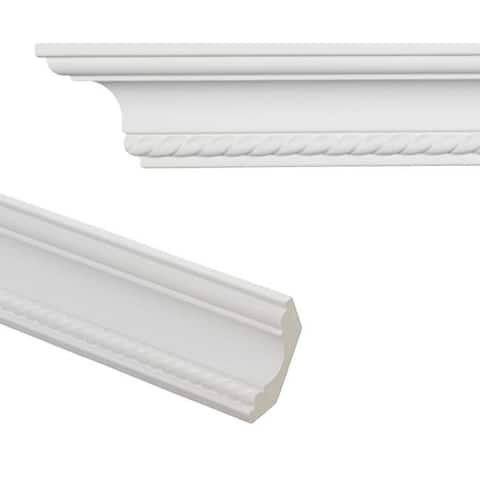 Rope 3.1-inch Crown Molding (8 pieces)