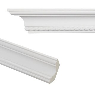 Rope 3.1-inch Crown Molding (Pack of 8)