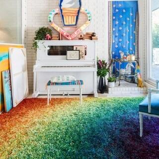 """Stella Rainbow Shag Rug - 3'9"""" x 5'6"""""""