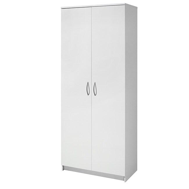 akadaHome White Multipurpose 72-inch Storage Cabinet