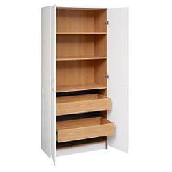 akadaHome White Multipurpose 72-inch Storage Cabinet - Thumbnail 2